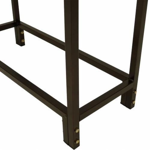 "Sunnydaze Log Rack 30"" Steel with Bronze Finish Indoor-Outdoor Firewood Storage Perspective: back"