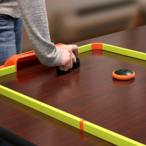 """Sunnydaze Portable Hover Tabletop Air Hockey Game Set with USB Charger - 40"""" Perspective: back"""