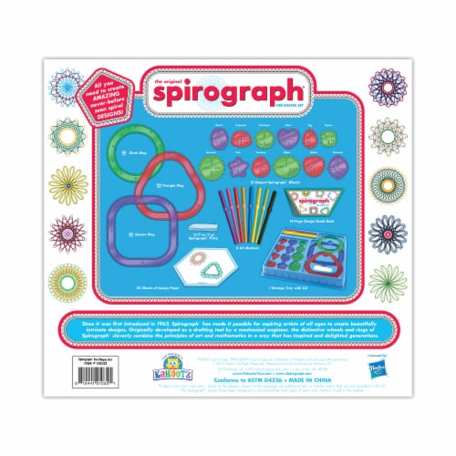 Spirograph Fun Shapes Set - Red Perspective: back