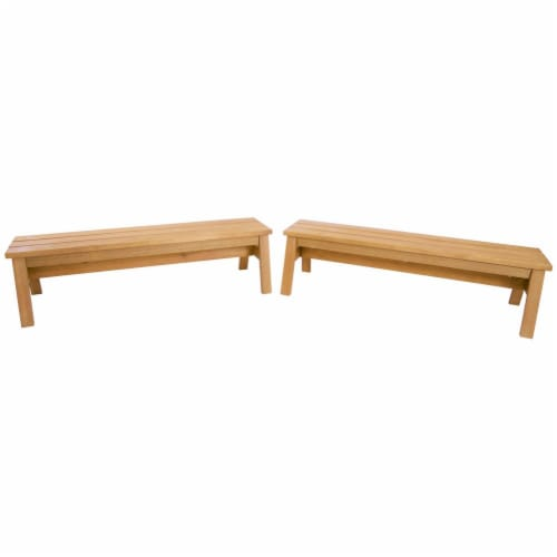 Kaplan Early Learning Outdoor Wooden Stacking Benches  - Set of 2 Perspective: back