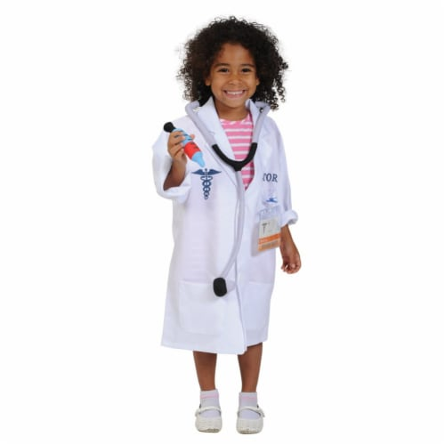 Kaplan Early Learning Doctor Career Dramatic Play Dress Up Costume Perspective: back