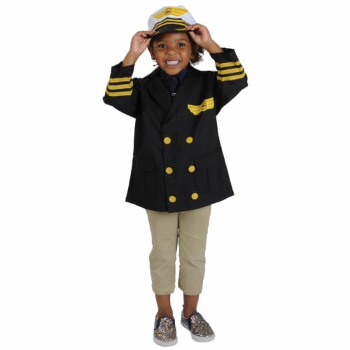 Kaplan Early Learning Airline Pilot Career Dramatic Play Dress Up Costume Perspective: back