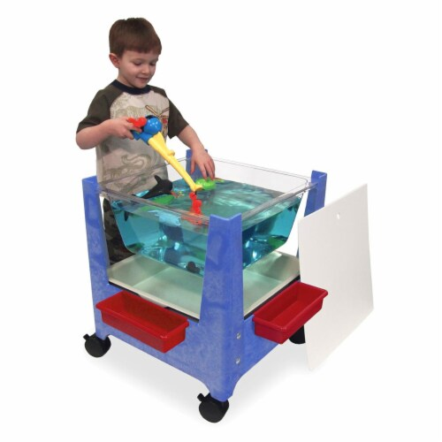 ChildBrite See-All Sand & Water Activity Center - Blue Perspective: back