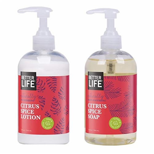 Better Life Citrus Spice Winter Wishes Kit with 12 Ounce Hand Soap and Lotion Perspective: back
