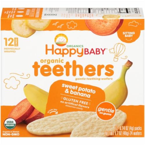 Happy Baby® Organics Gluten Free Teethers Sweet Potato & Banana Gentle Teething Wafers Perspective: back