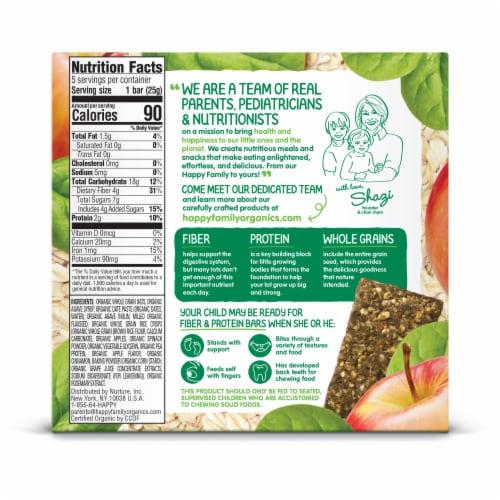 Happy Tot® Organics Fiber & Protein Apples & Spinach Oat Bars Perspective: back