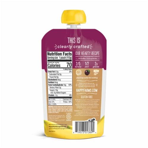 Happy Baby® Organics Bananas Plums & Granola Stage 2 Baby Food Perspective: back