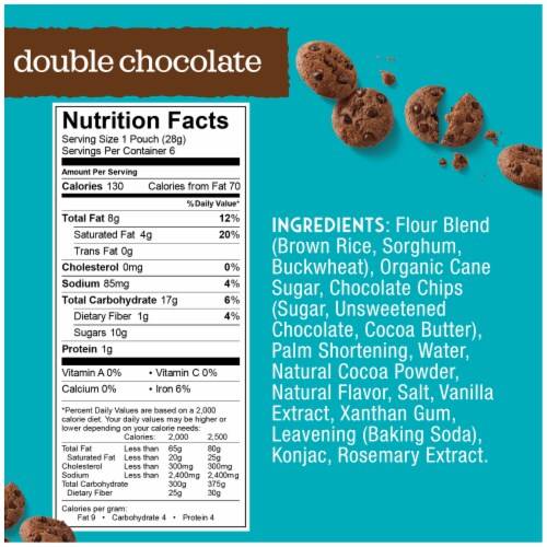 Enjoy Life Gluten-Free Double Chocolate Crunchy Mini Cookies 6 Count Perspective: back