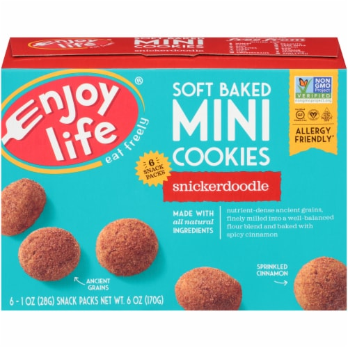 Enjoy Life® Soft Baked Mini Snickerdoodle Cookies Perspective: back