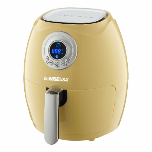 GoWISE USA 2.75-Quart Digital Air Fryer, Majestic Yellow Perspective: back