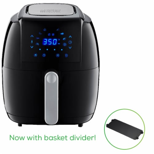 GoWISE USA 5.0-Quart 1500-Watt Digital Air Fryer, (Black) Perspective: back