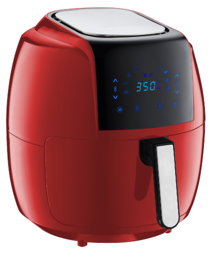 GoWISE USA 8-in-1 Digital Air Fryer, 7.0-Qt, Red Perspective: back