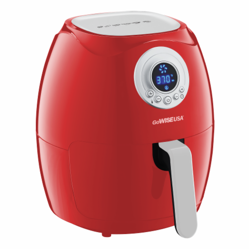 GoWISE USA 3.7-Quart Digital Air Fryer, Red Perspective: back