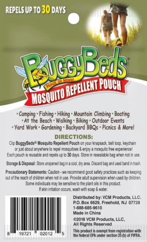 BuggyBeds Mosquito Repellent Pouch Perspective: back