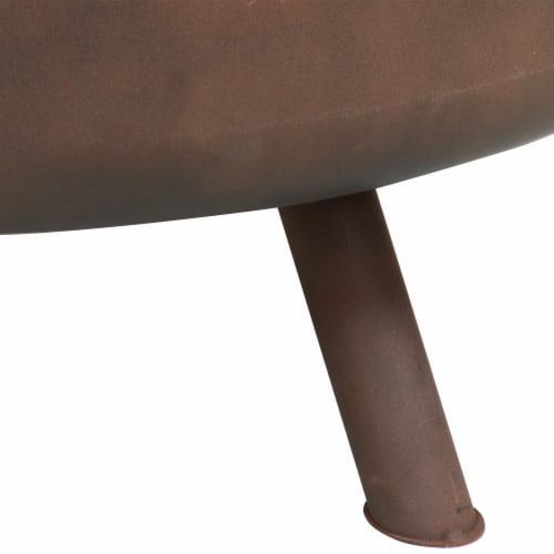 """Sunnydaze 30"""" Fire Pit Steel Cosmic Design with Cooking Grill and Spark Screen Perspective: back"""