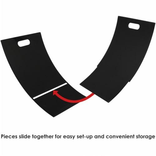 """Sunnydaze Log Rack 30"""" Black Steel Holder Firewood Storage Fireplace Accessory Perspective: back"""