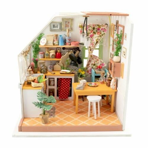 Hands Craft DIY 3D Wooden Puzzles - Miniature House: Jason's Kitchen Perspective: back