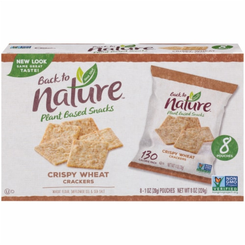 Back to Nature™ Crispy Wheat Crackers Perspective: back