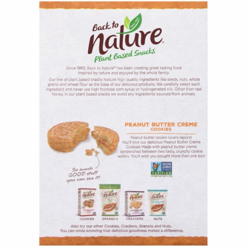 Back to Nature Peanut Butter Creme Cookies Perspective: back