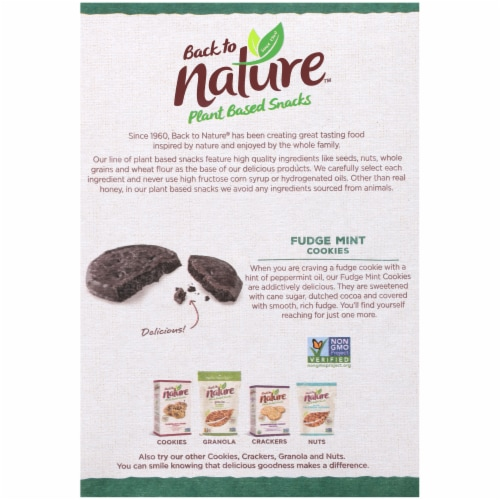 Back to Nature Fudge Mint Cookies Perspective: back