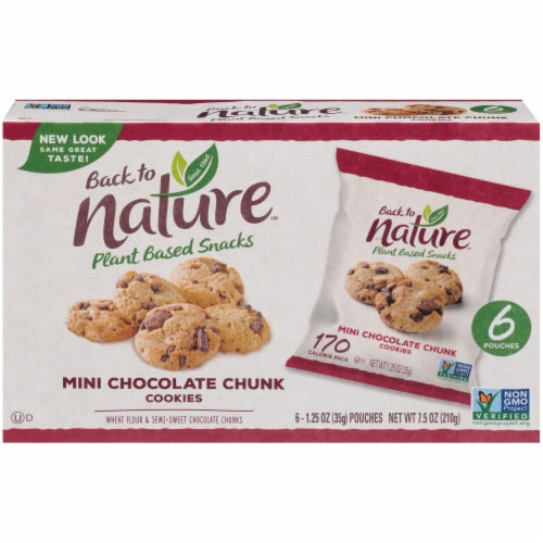 Back To Nature Mini Chocolate Chunk Cookies Perspective: back