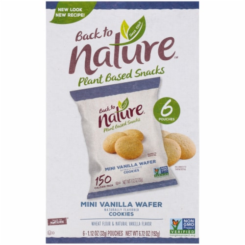 Back To Nature Madagascar Wafers Whole Grain Wheat Flour Vanilla - Case of 4 - 1.12 oz Perspective: back