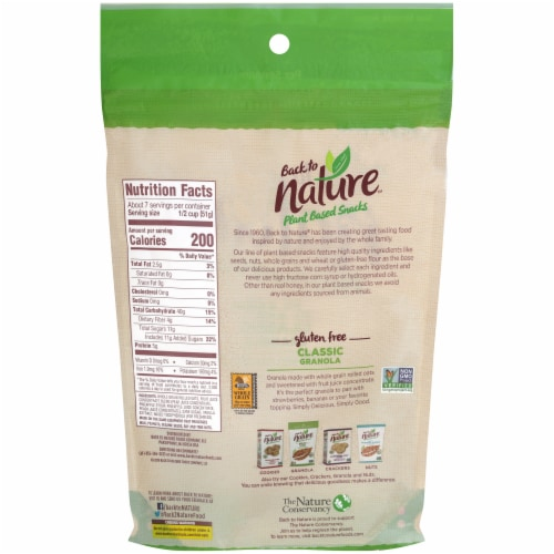 Back to Nature Plant Based Classic Granola Perspective: back