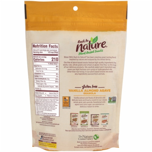 Back to Nature Plant Based Vanilla Almond Agave Granola Perspective: back