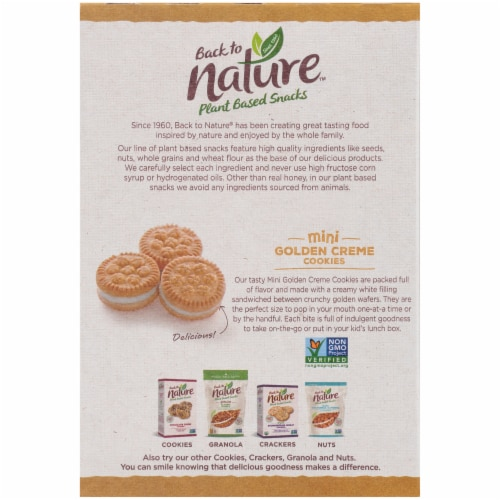 Back to Nature™ Plant Based Mini Golden Creme Cookies Perspective: back