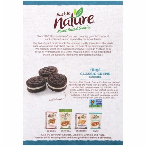 Back to Nature™ Plant Based Mini Classic Creme Cookies Perspective: back