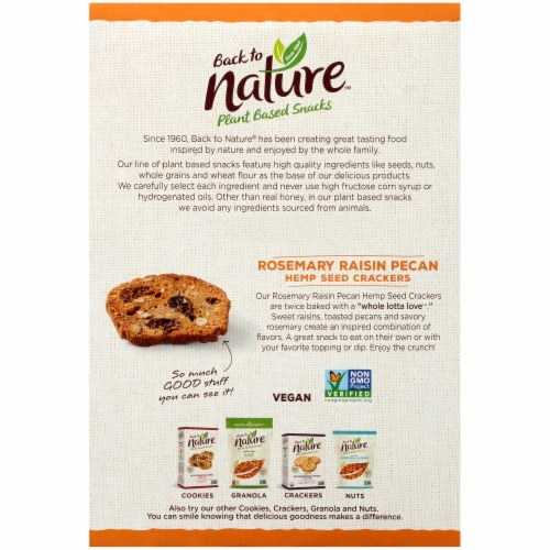 Back to Nature Whole Lotta Love Rosemary Raisin Pecan Crackers Perspective: back