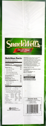 SnackWell's Devils Food Cookie Cakes Multipack 12 Count Perspective: back