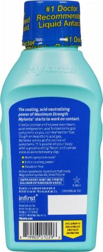 Mylanta® Vanilla Caramel Flavor Maximum Strength Antacid + Anti-Gas Liquid Perspective: back