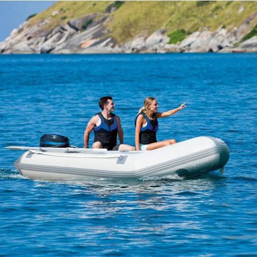 "Bestway Hydro Force Caspian Pro 91"" Inflatable 2 Person Boat Set w/ Oars & Pump Perspective: back"