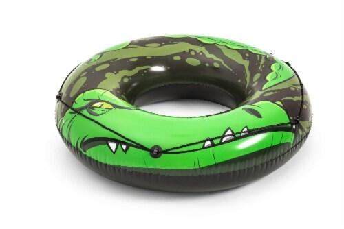 H2OGo!™ River Gator Swim Ring - Green/Black Perspective: back