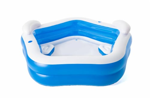 H2OGo!™ Family Fun Pool - Blue/White Perspective: back