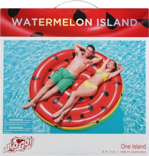 Bestway H2O Go! Inflatable Watermelon Island Pool Lounge Perspective: back
