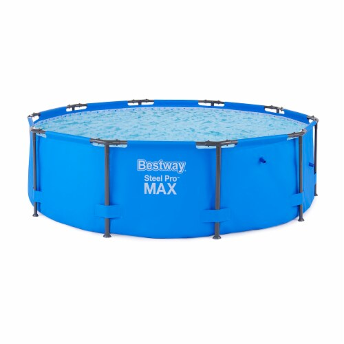 """Bestway 10' x 30"""" Steel Pro Frame Max Round Above Ground Swimming Pool with Pump Perspective: back"""