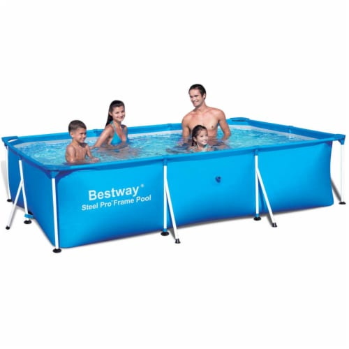 """Bestway 9.8' x 6.7' x 26"""" Deluxe Splash Kids Ground Swimming Pool (Pool Only) Perspective: back"""