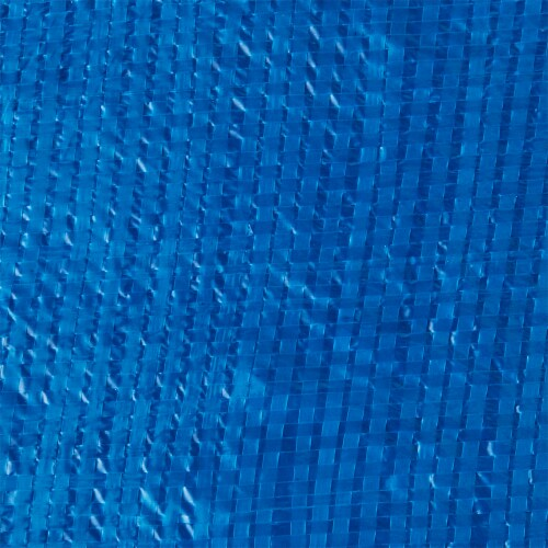 Bestway Flowclear Fast Set 12 Foot Round PVC Pool Debris Cover with Ropes, Blue Perspective: back
