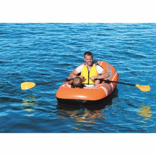 Bestway Kondor 2000 Inflatable Raft Boat Set with Oars and Pump Perspective: back