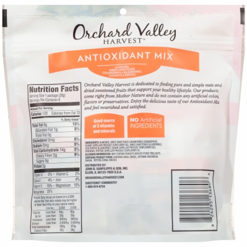 Orchard Valley Harvest Antioxidant Mix Perspective: back