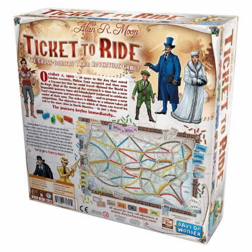 Days of Wonder Ticket to Ride Board Game Perspective: back