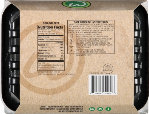 wahlburgers Famous Gourmet Blend Ground Beef Patties Perspective: back