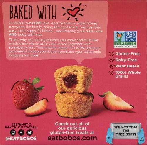 Bobo's® Strawberry Stuff'd Oat Bites Perspective: back