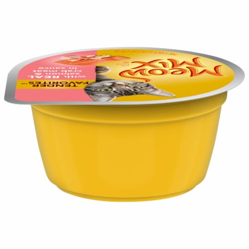 Meow Mix Tender Favorites Salmon & Crab Meat Wet Cat Food Perspective: back