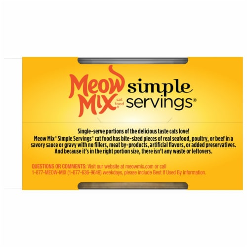 Meow Mix Simple Servings Tuna & Ocean Whitefish Wet Cat Food Perspective: back