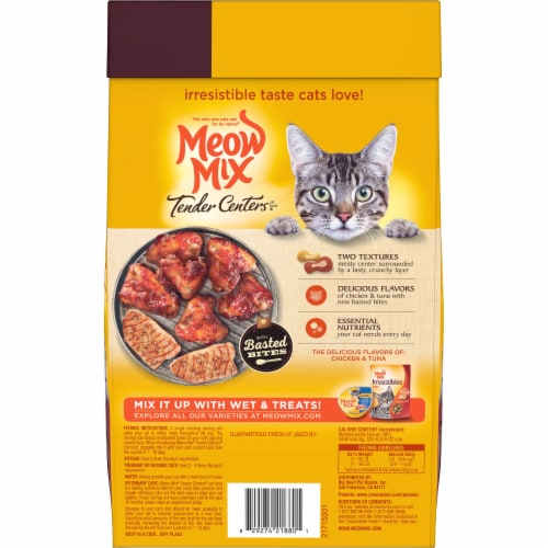 Meow MIx Tender Centers Basted Bites Chicken and Tuna Flavor Dry Cat Food Perspective: back