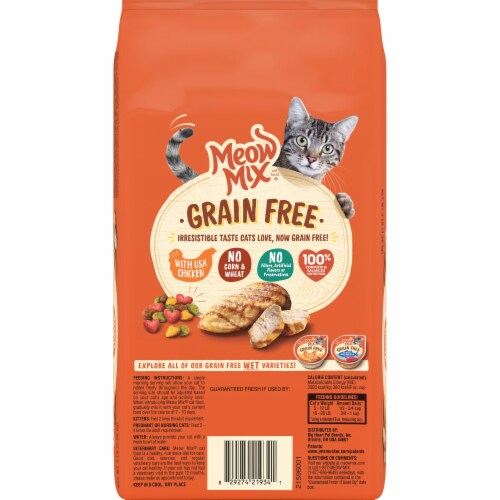 Meow Mix Grain Free with Chicken Dry Cat Food Perspective: back