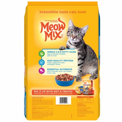 Meow Mix Seafood Medley Dry Cat Food Perspective: back